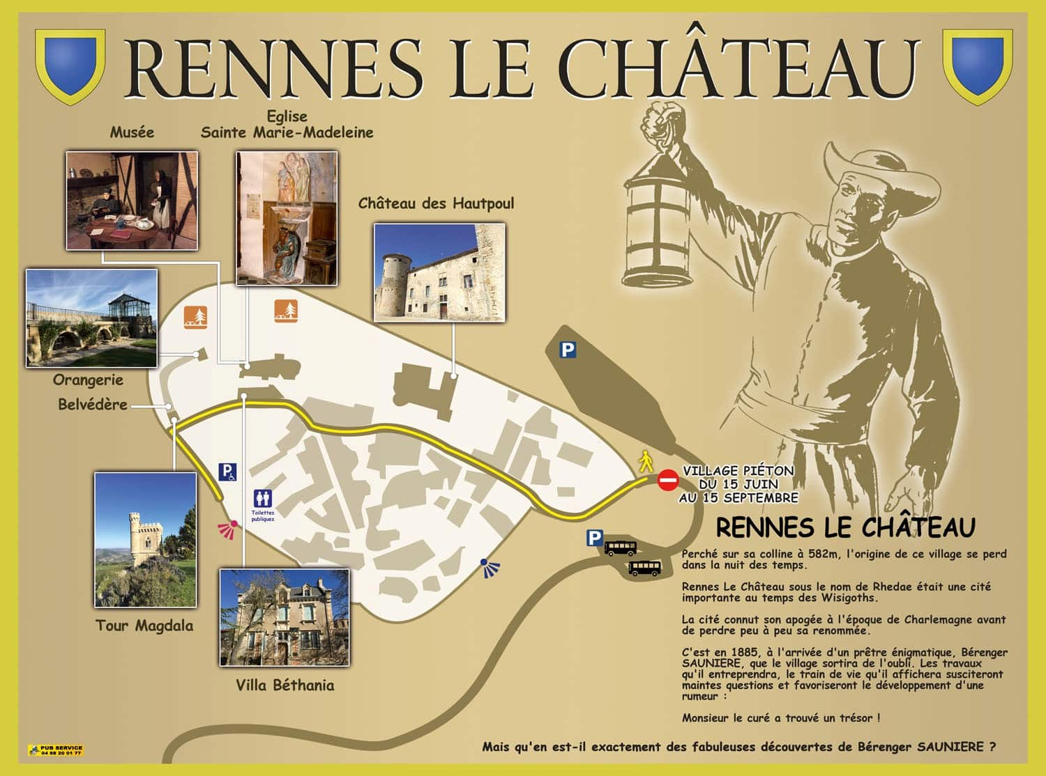 Rennes le chateau map