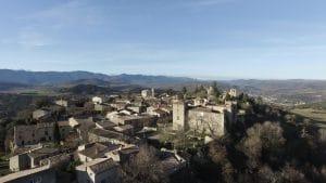 Village de Rennes le château vu du ciel